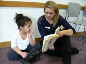 A Book Buddy Volunteer in Action