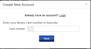 Create an Account Screen on Zinio