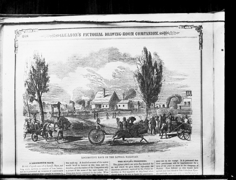 Sketch fro Gleason's Pictorial - depicts Wilmington Deppot