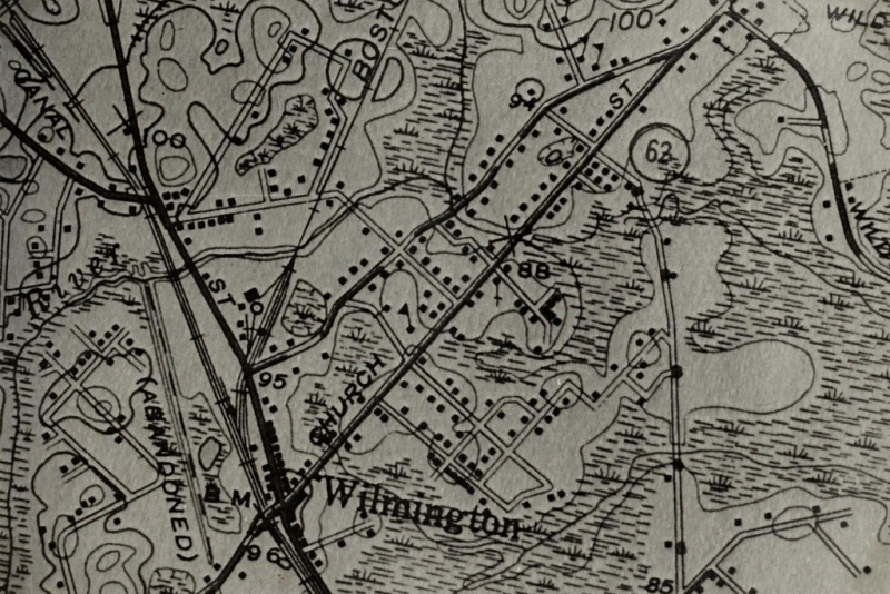 National Geodesic Survey Map of 1935 of Center area