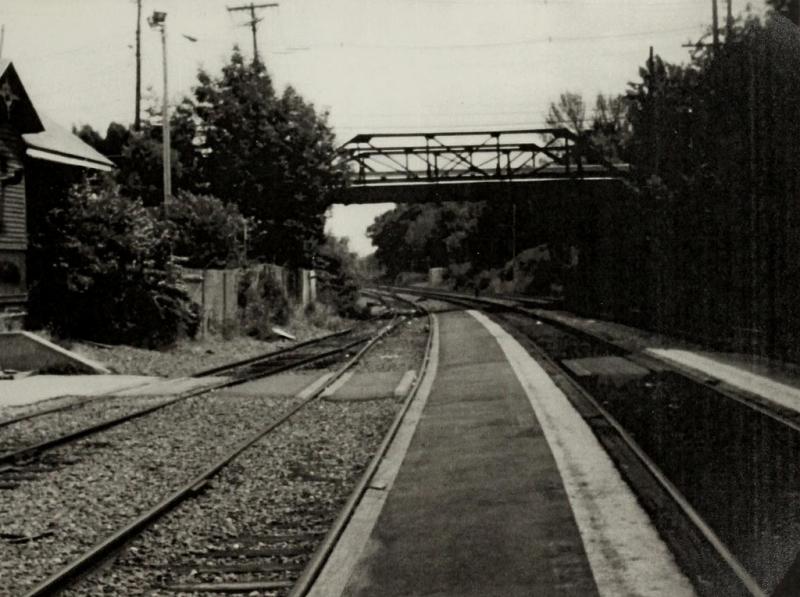 Railroad Bridge at Burlington Avenue circa 1981