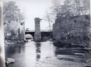 The Aquaduct at Shawsheen Ave over the Shawsheen River looking upstream. Circa 1905