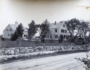 Ed Nelson Eames and Bishop houses on the corner of Woburn street taken 100 yards south of Wildwood street