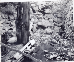 The Remains of Clapp's Mill on Mill Rd off Chestnut St circa 1900