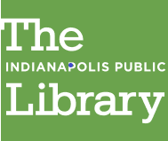 The white word The above the words Indianapolis Public above the work Library on a green background