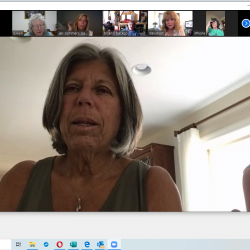 Screenshot of a Zoom meeting from Long Beach, NY High School 50th Reunion Committee