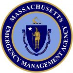 Massachusetts Emergency Management Agency Logo; the Mass State Seal with the agency's name in a circle around it.