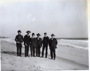 Masonic Lodge Outing at Salisbury Beach Circa 1900