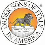 Sons of Italy in American Logo. Those words in a circle with a lion inside the circle standing a pedestal engraved with Liberty Equality Fraternity