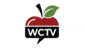 Top half of apple sticking out of a conversation box saying WCTV